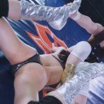 ハイレグ美女がプロレス技をかけられて大開脚で悶絶するAV